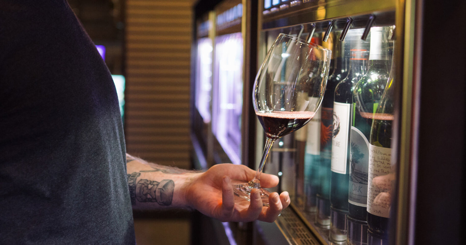 32 Wines in Self-Pour Dispensers
